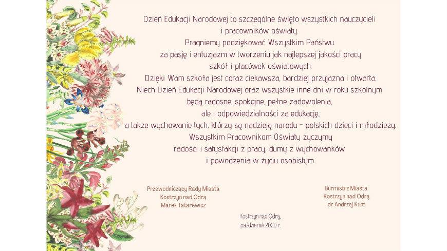 Dzień Edukacji Narodowej - 14.10.2020 r.