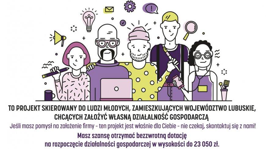 Plakat reklamujący program.