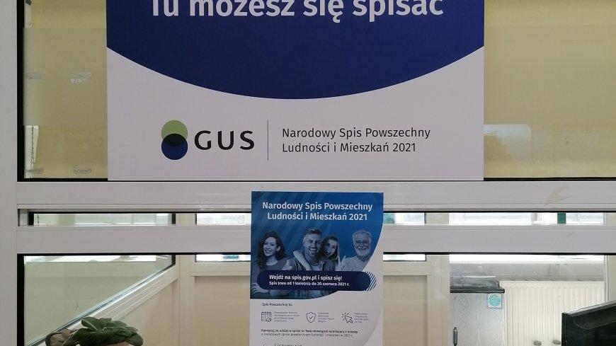 Plakat informacyjny - Narodowy Spis Powszechny Ludności i Mieszkań.