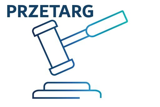 ikona przedstawiająca symbol przetargu - młotek uderzający w podkładkę