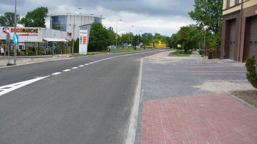 na zdjęciu przebudowana jezdnia ulicy Gorzowskiej
