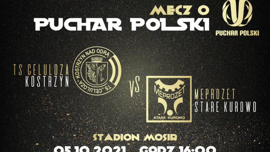 Baner promujący mecz o Puchar Polski