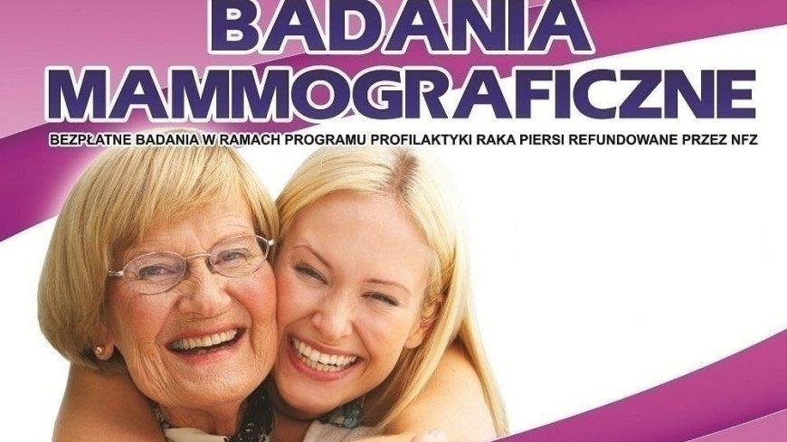 Grafika promująca badania mammograficzne